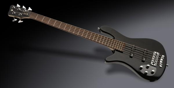 Warwick RockBass Streamer LX, Lefthand, 5-String - Solid Black High Polish