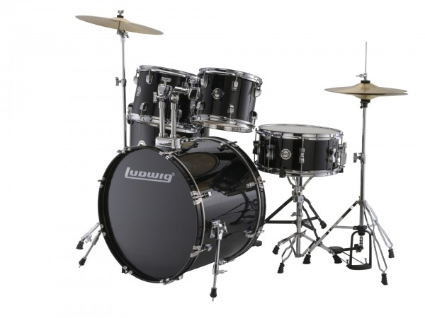 Ludwig LC170 Accent Fusion Complete 5 Piece Drum Set Kit