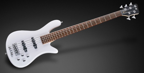 Warwick RockBass Streamer LX, 5-String - Solid White High Polish