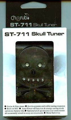 Cherub Skull Tuner ST-711 Stimmgerät Gitarre Bass
