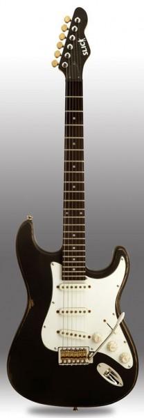 SLICK SL 57 BK E-Gitarre ST-Style Black