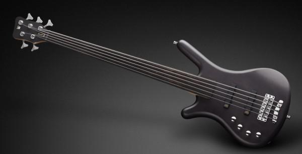 Warwick RockBass Corvette Basic, Lefthand, 5-String, Fretless - Nirvana Black Transparent Satin