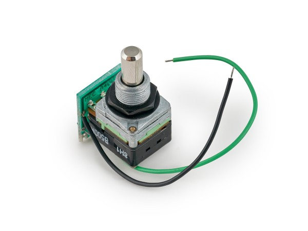 MEC Volume Pot Module, B500K, Push/Pull, with connection cables - Lefthand