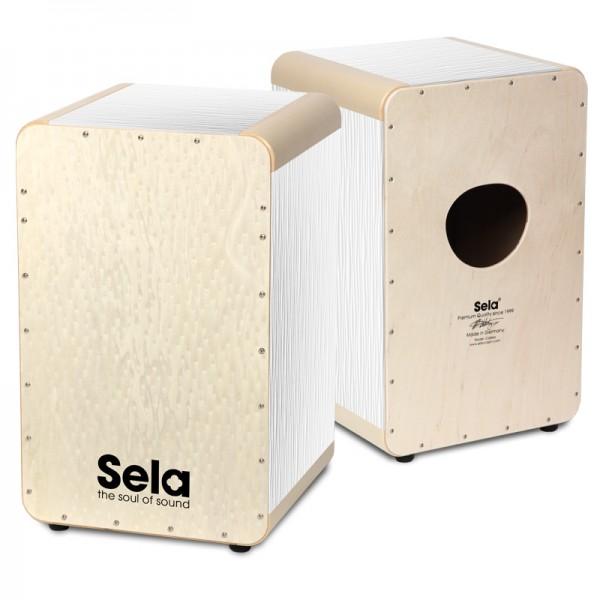 SELA SE021 Cajon Wave - White Pearl