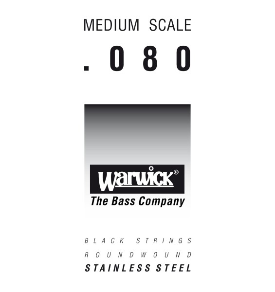 Warwick Black Label - Bass Single String, .080, Medium Scale