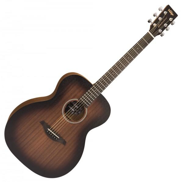 VINTAGE Acoustic V660WK Orchestra Westerngitarre, Paul Brett Signature, Whisky Sour
