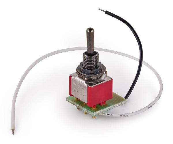MEC Mini Toggle Switch Assembly for Warwick Streamer Jazzman - Black
