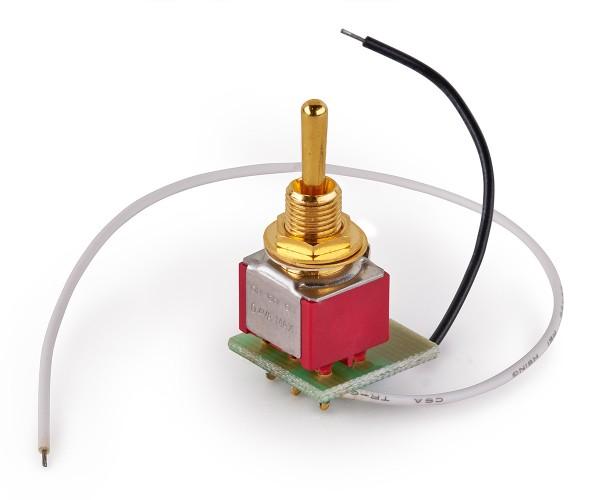 MEC Mini Toggle Switch Assembly for Warwick Streamer Jazzman - Gold