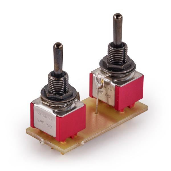 MEC Mini Toggle Switch Assembly for Warwick Streamer LX LTD 2009 - Black