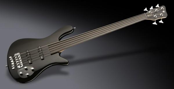 Warwick RockBass Streamer LX, 5-String, Fretless - Solid Black High Polish