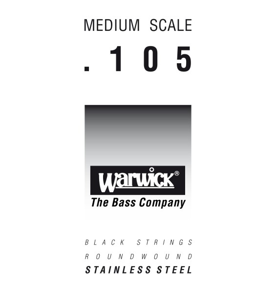 Warwick Black Label - Bass Single String, .105, Medium Scale
