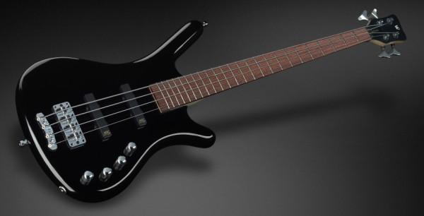 Warwick RockBass Corvette Basic, Medium Scale, 4-String - Solid Black High Polish