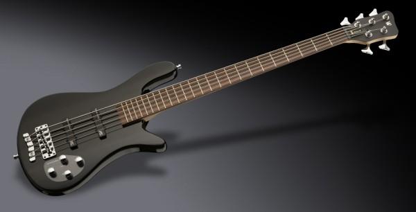 Warwick RockBass Streamer LX, 5-String - Solid Black High Polish