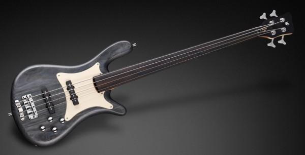 Warwick Teambuilt Pro Series Streamer CV, 4-String, Fretless - Nirvana Black Transparent Satin
