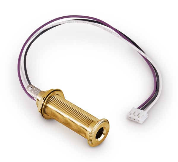 MEC Closed Stereo Jack Socket, for Mouning in Instrument Sides with R4 Connector - Gold