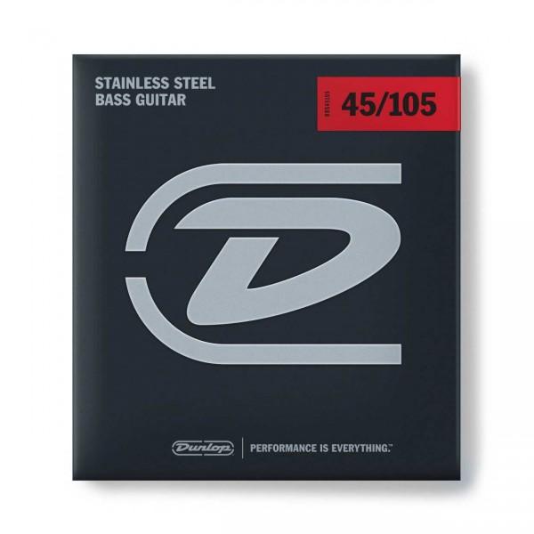 Dunlop Bass Stainless Steel - Bass String Set, 4-String, Medium, .045-.105