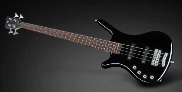 Warwick RockBass Corvette Basic, Lefthand, Medium Scale, 4-String - Black Solid High Polish
