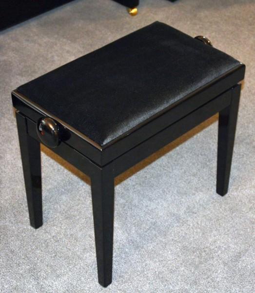 HOMBERG Mod. 305 Klavierbank schwarz Stoff