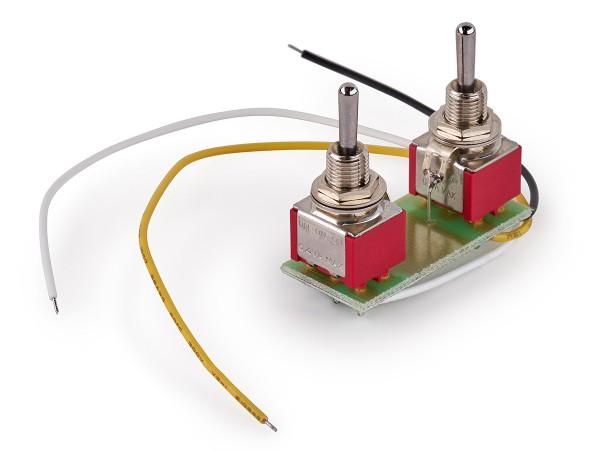 MEC Mini Toggle Switch Assembly for Coil Splitting on Humbucking Pickups - Chrome