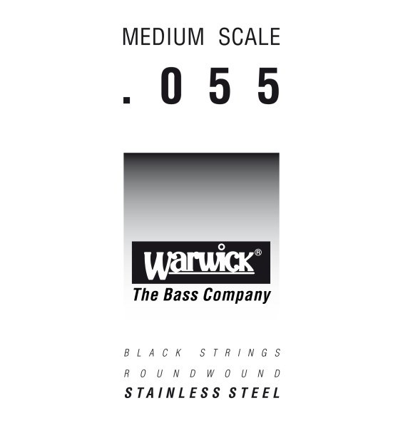 Warwick Black Label - Bass Single String, .055, Medium Scale