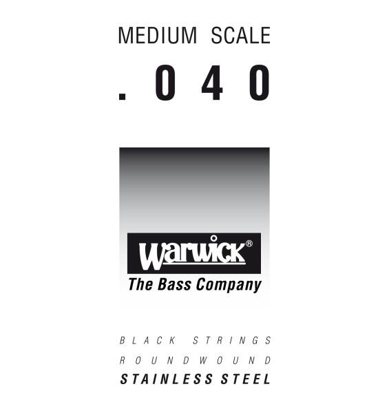 Warwick Black Label - Bass Single String, .040, Medium Scale