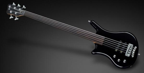Warwick Teambuilt Pro Series Thumb BO, Lefthand, 5-String, Fretless - Solid Black High Polish