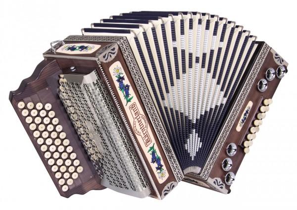 "KÄRNTNERLAND Harmonika ""Bergkristall"" G/C/F/B, X-Bass"