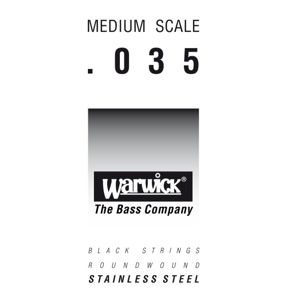 Warwick Black Label - Bass Single String, .035, Medium Scale