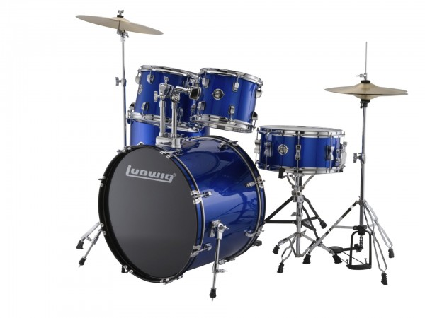 Ludwig LC175 Accent Fusion Complete 5 Piece Drum Set Kit
