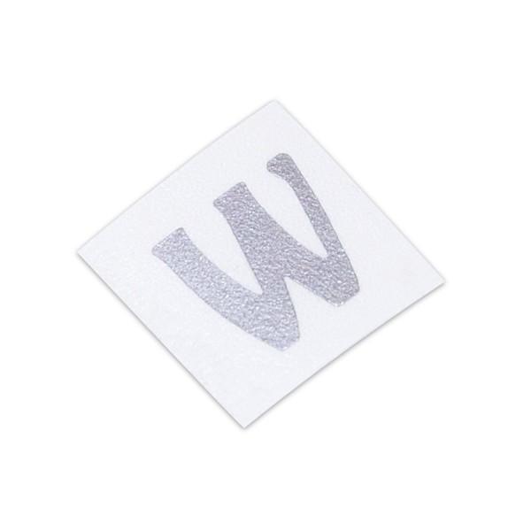 Warwick Parts - Warwick Headstock W-Logo Decal - Silver