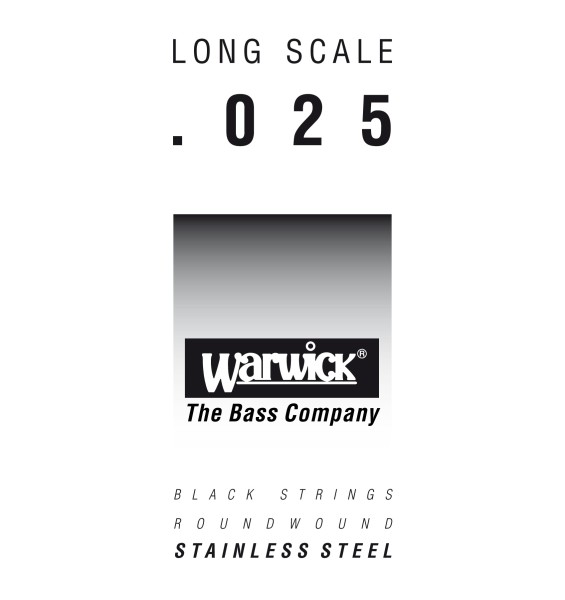 Warwick Black Label - Bass Single String, .025