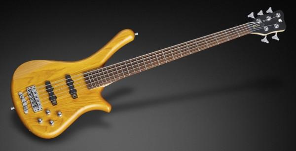 Warwick RockBass Fortress, 5-String - Honey Violin Transparent Satin