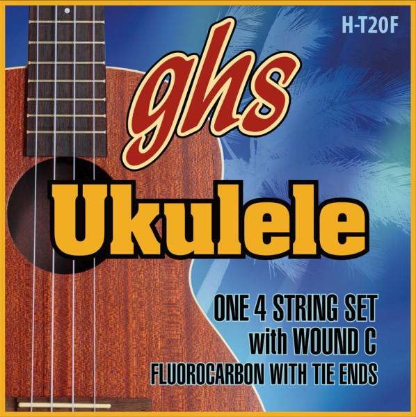 GHS Ukulele Fluorocarbon Tie Ends - H-T20F - Ukulele String Set, Tenor, Fingerstlye