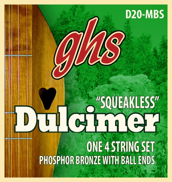 GHS D20-MBS - Dulcimer String Set, D-Mixolydian Tuning, Ball End, Squeakless