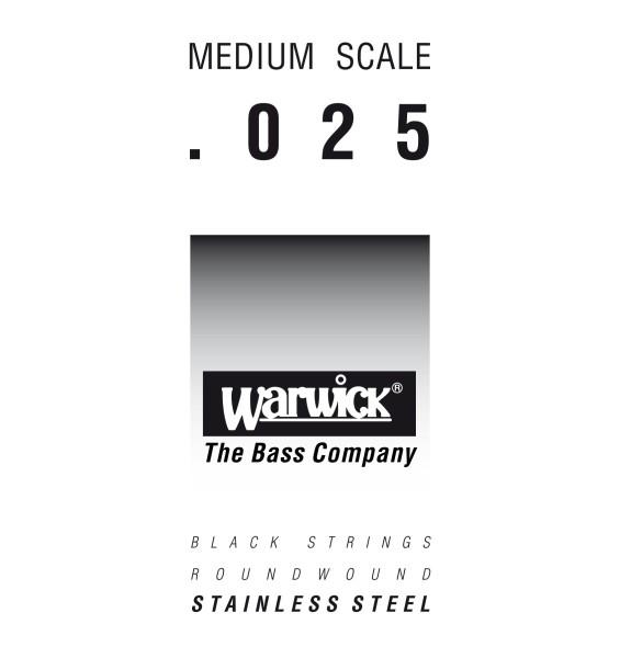 Warwick Black Label - Bass Single String, .025, Medium Scale